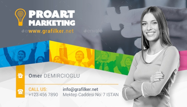 professional marketing business card