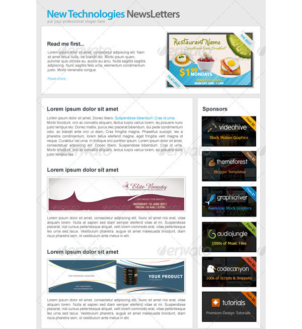 professional marketing e newsletters