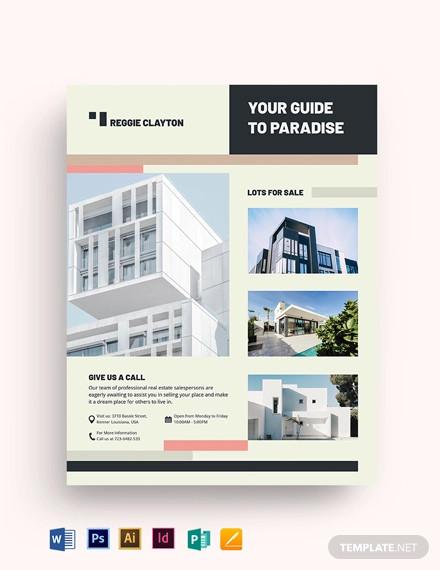 professional real estate broker flyer template