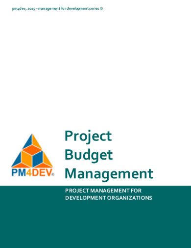 project budget management