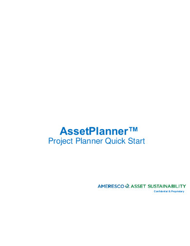 project planner quick start