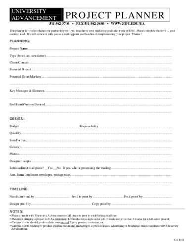 project planner in pdf
