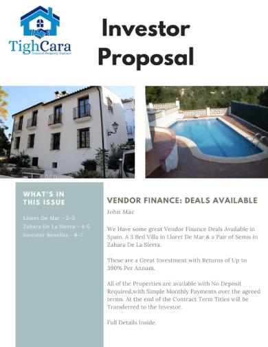 property investor proposal
