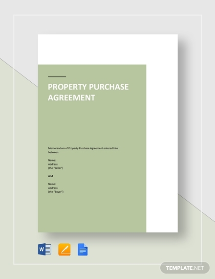 property purchase agreement