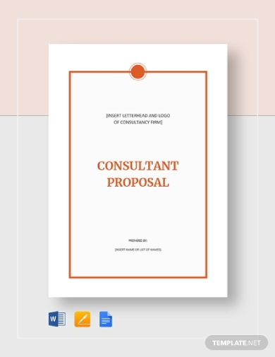 proposal for consulting services business
