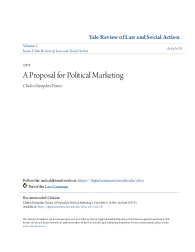 proposal for political marketing