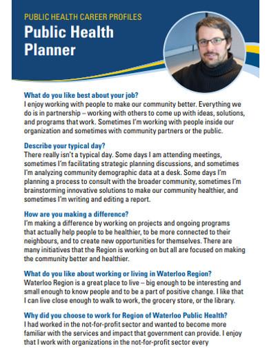 public health planner