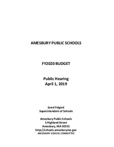 public school budget
