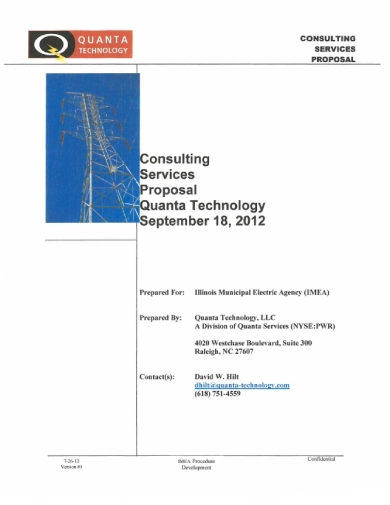 quanta technology consulting services proposal