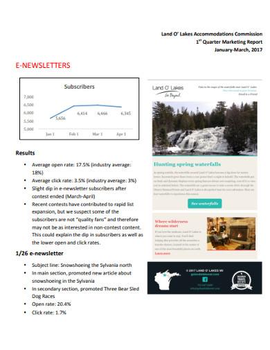 quarter marketing report