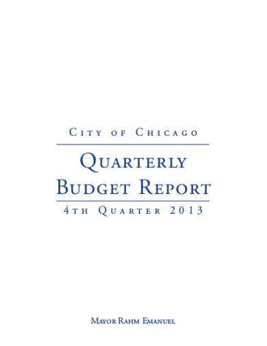 quarterly budget report