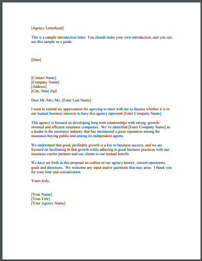 real estate agent appointment letter from agency