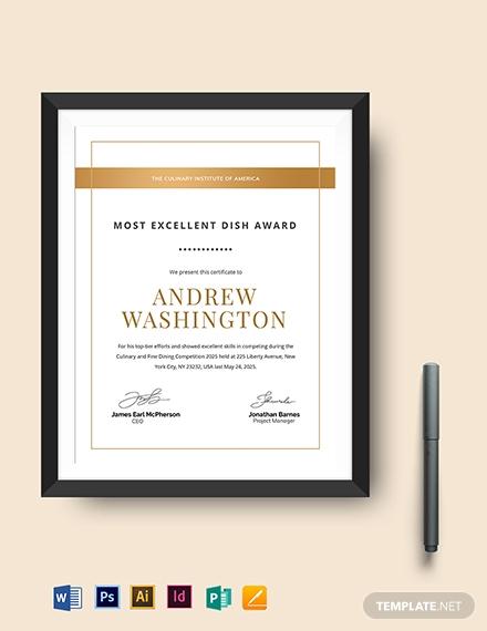 real estate award certificate template