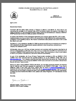 real estate partnership termination letter