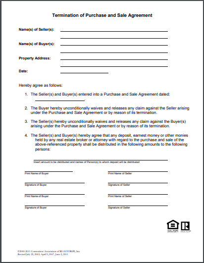 free 6  best real estate termination letter examples
