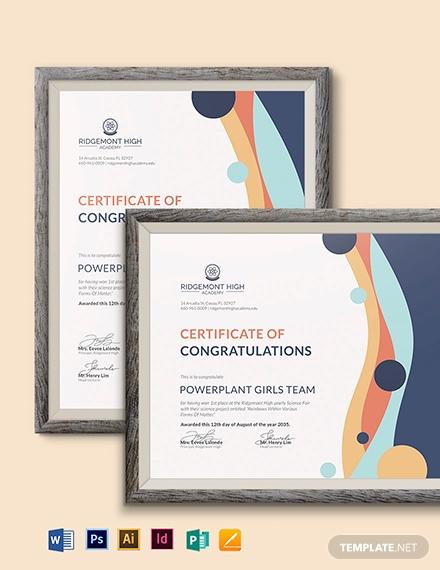 real estate team certificate template