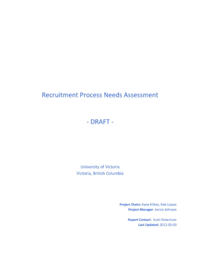 recruitment process assessment report