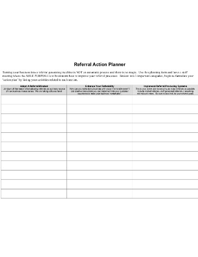 referral action planner