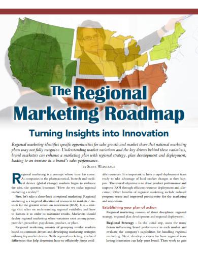 regional marketing roadmap