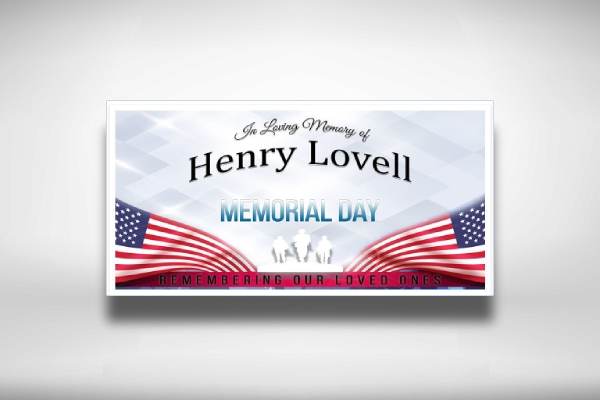 remembering loved ones memorial day banner