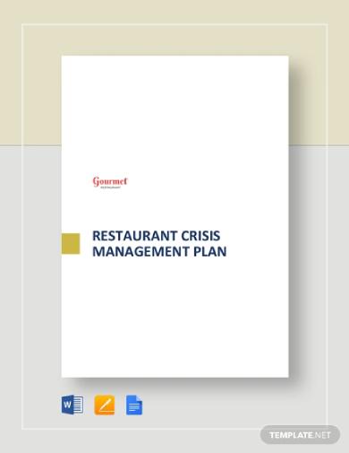 restaurant crisis plan