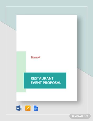 restaurant event proposal template
