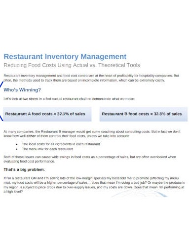 restaurant inventory management