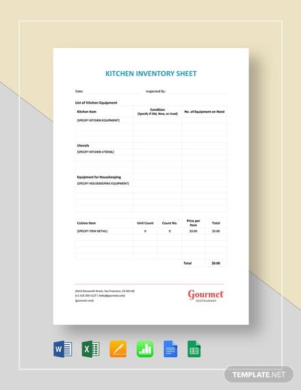 restaurant kitchen inventory