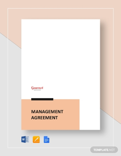 restaurant management agreement