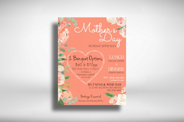restaurant promo mothers day poster