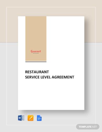 restaurant service level agreement