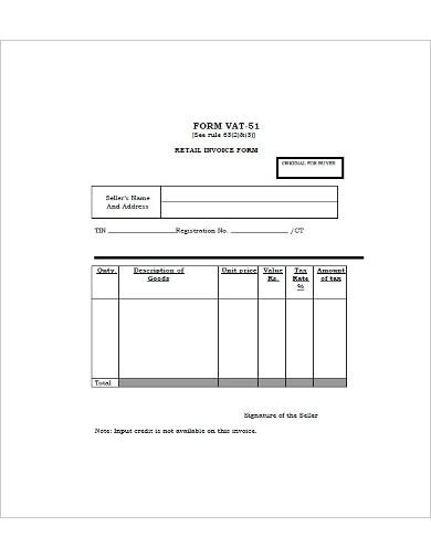retail invoice form