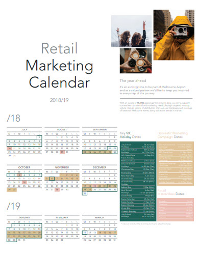 retail marketing calendar