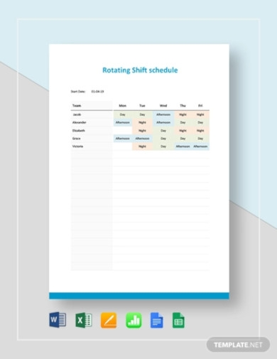 rotating shift schedule template1