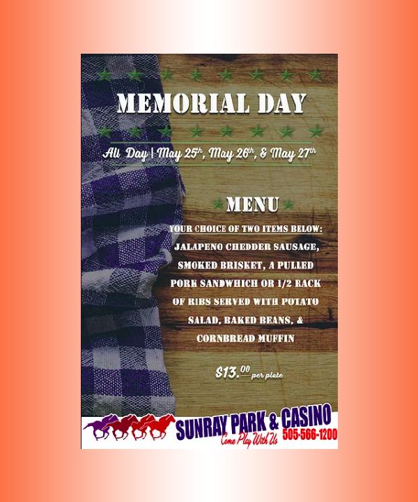 rustic memorial day menu