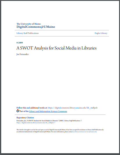 swot analysis for social media in libraries