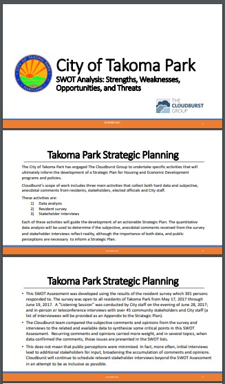 swot analysis of park strategic planning