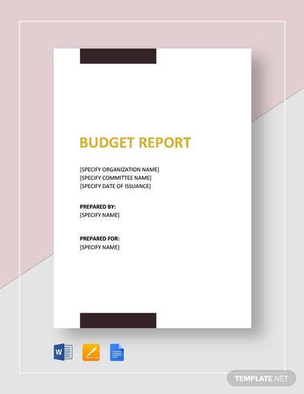sample budget report template1