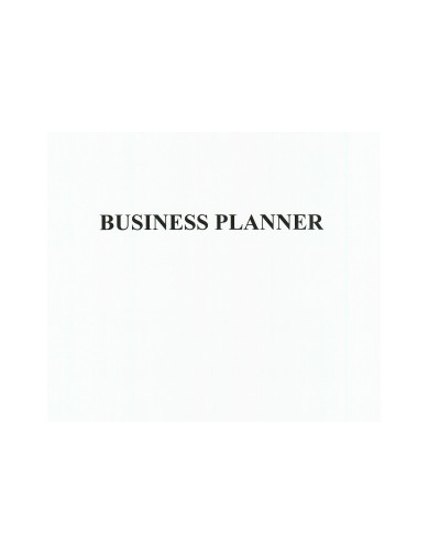 sample business planner