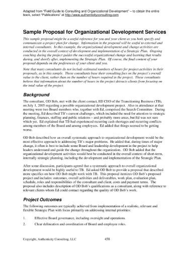 sample consulting services proposal