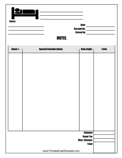 sample hotel invoice