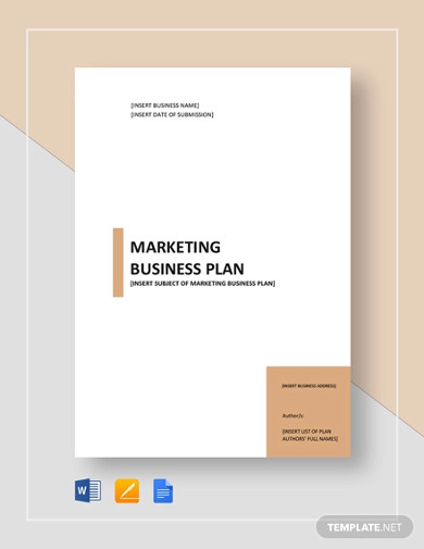 sample marketing business plan template