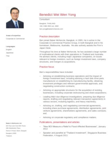 sample marketing resume cv