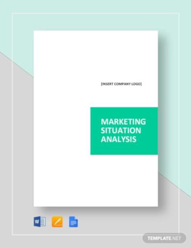 sample marketing situation analysis