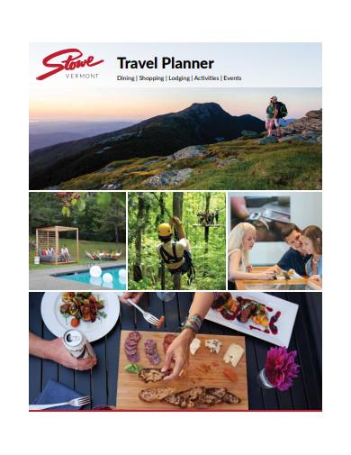 sample travel planner
