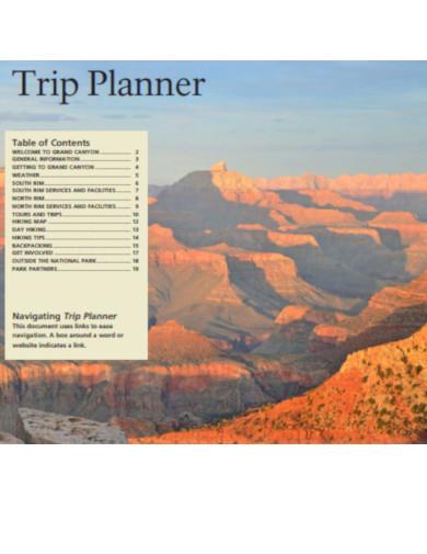 sample trip planner