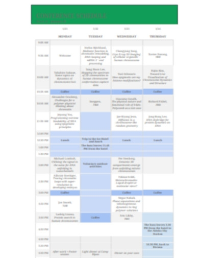 schedule conference