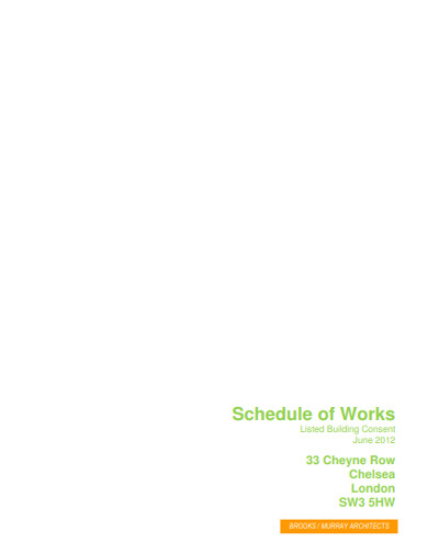 schedule of works