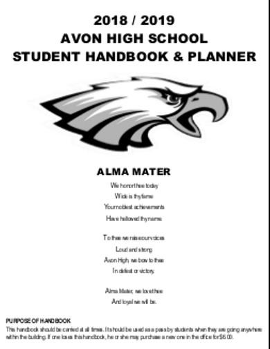 school handbook planner