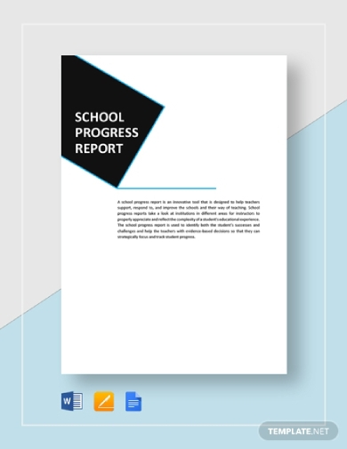 school progress report